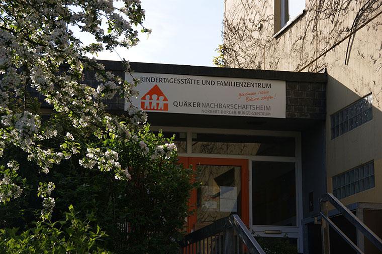 Eingang Kita und Familienzentrum