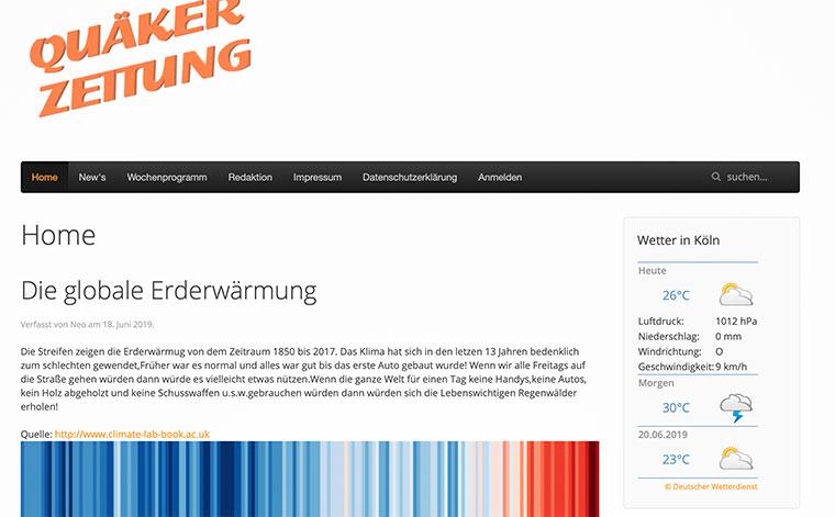 Screenshot Onlinezeitung