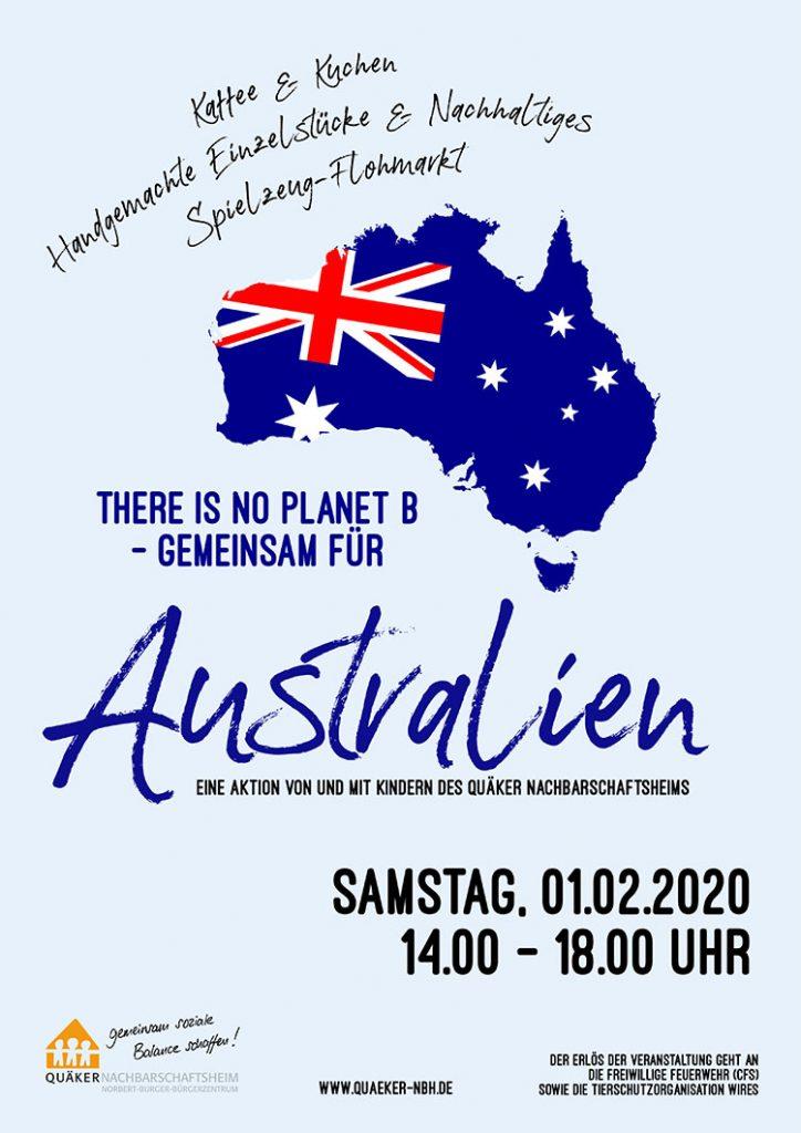 Plakat Spendenaktion Australien