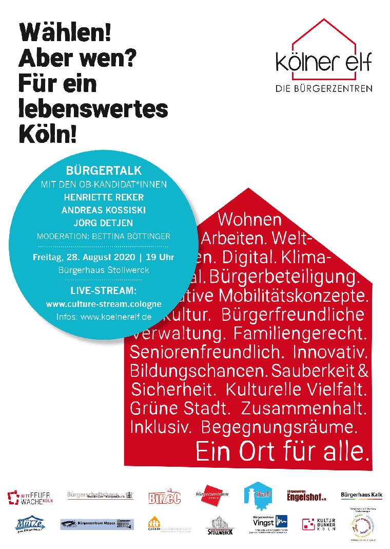 Plakat Bürgertalk Kommunalwahl